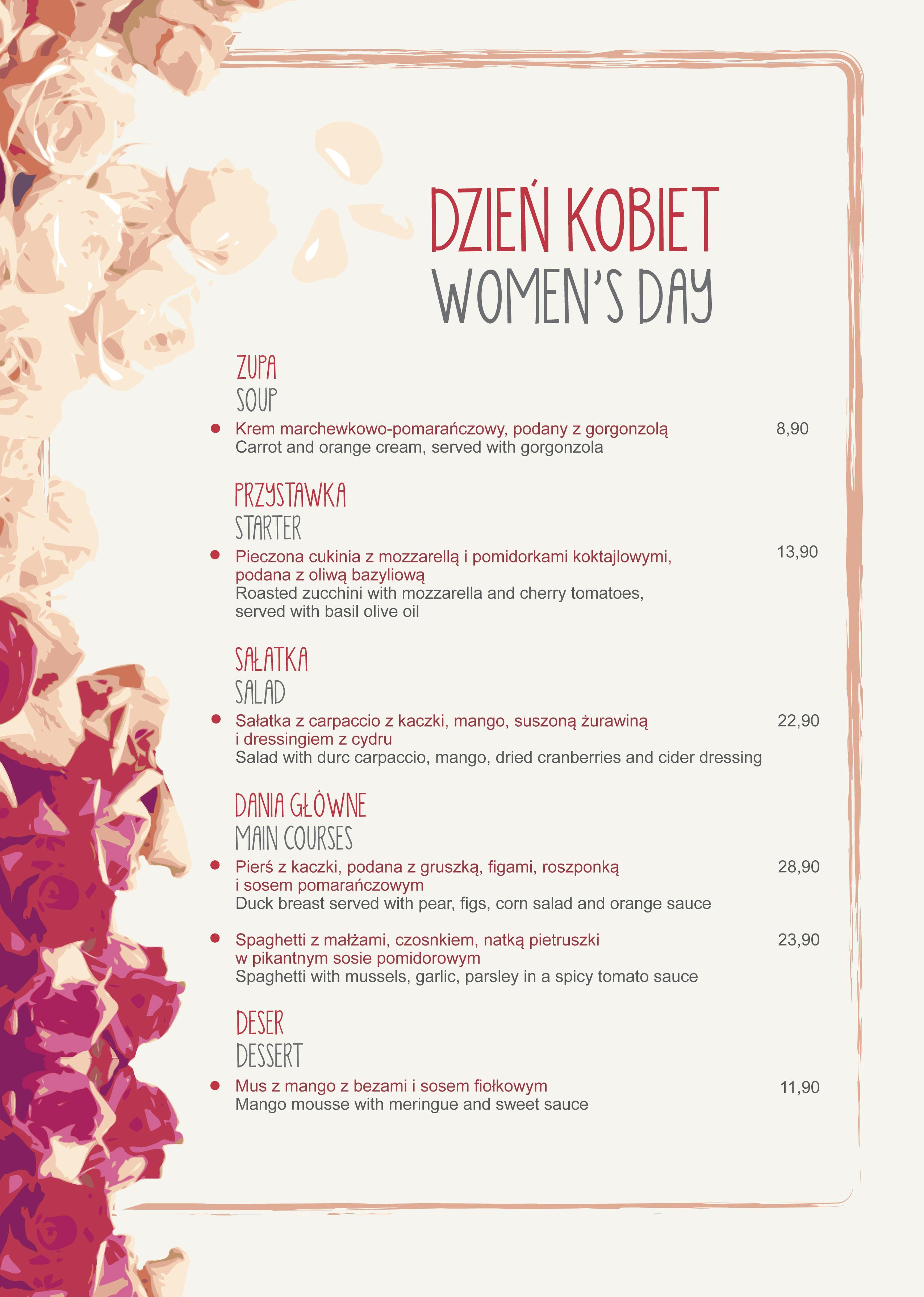 Dzień Kobiet w Dyni, restauracja Kraków